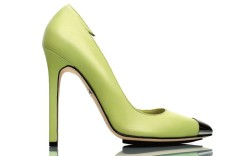 Tania Spinelli&#8217s lime-green pump with silver toecap