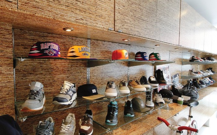 Footwear dominates the store&#8217s product mix