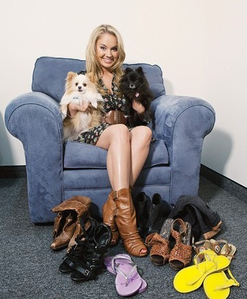 Disney starlet Tiffany Thornton with some of her favorite shoes
