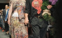 Andreas Kronthaler creative director at Vivienne Westwood and husband of the designer seen at the brand&#8217s spring &#821712 men&#8217s show in Milan