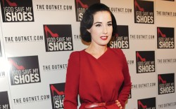 Dita Von Teese 'Clocks In' for
