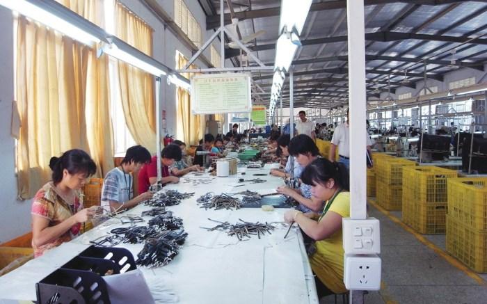 Factory workers overseas