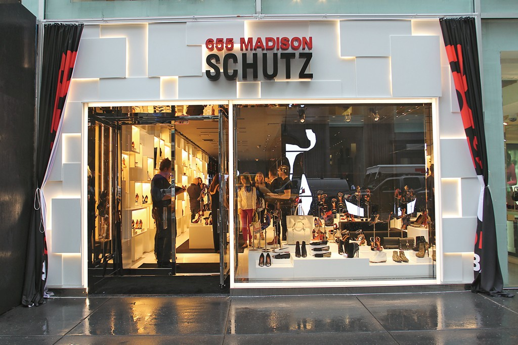 The Schutz U.S. flagship in New York.