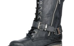 Mias lace-up boot with lug sole and buckle