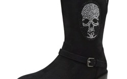 Pull-on style with studded skull motif by Enzo