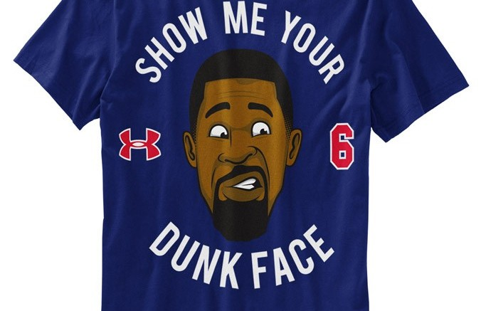 Under Armours limited-edition Dunk Face t-shirt