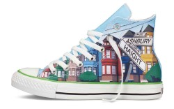 A special makeup shoe which will be exclusive to Converse&#8217s new San Francisco store