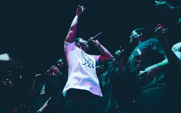 Drake performs at the Jordan Brand Classic