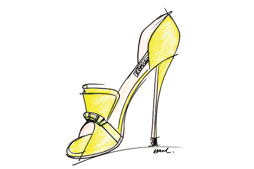 A sketch from the Badgley Mischka Resort 2014 collection.