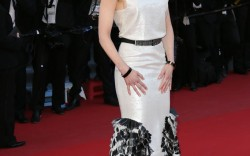 Nicole Kidman in a Chanel resort dress and Christian Louboutin red pumps at the premiere of Venus in Fur