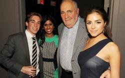 Jake Schwartz of Schwartz & Benjamin Macys buyer Raji Sandhu Bob Goldman and Olivia Culpo
