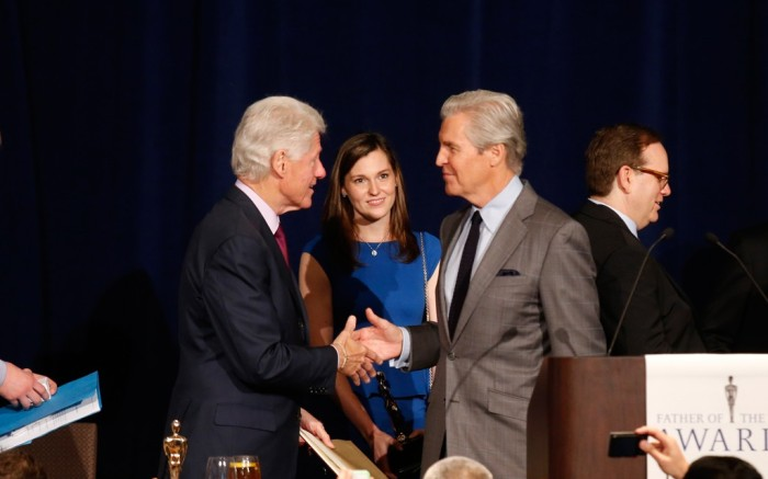 Bill Clinton and Terry Lundgren