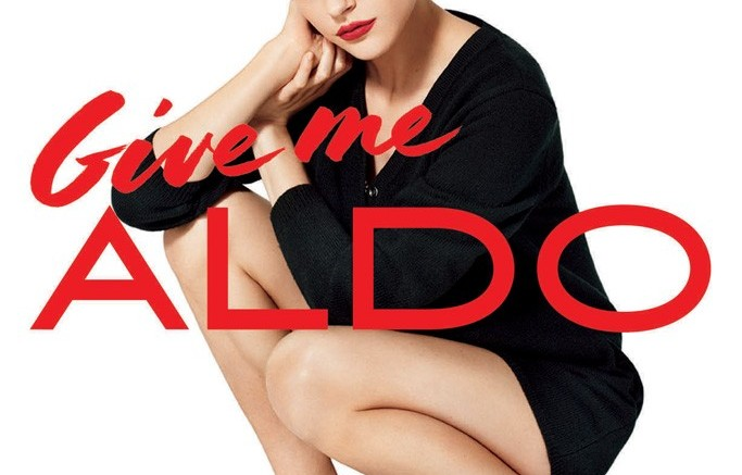 Aldos fall campaign with Jessica Stam