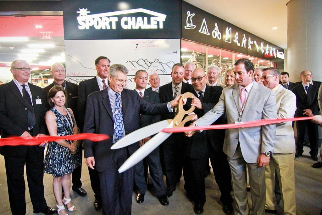 Sport Chalet executives store opening