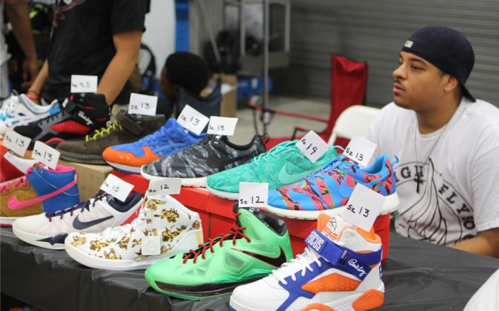 Attendees at Sneaker Con NYC