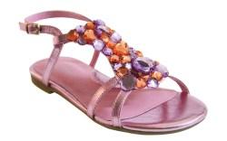 COLE HAAN&#8217s metallic pink embellished sandal