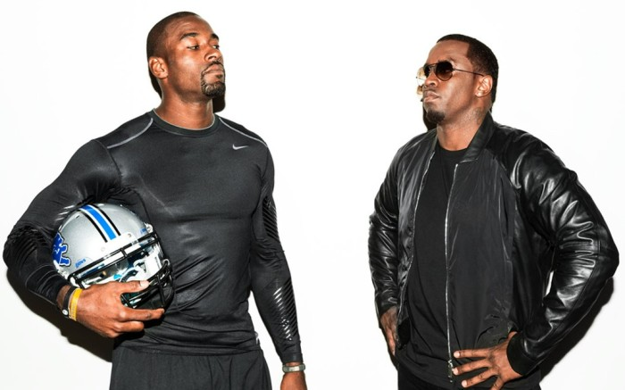 Calvin Johnson and Sean Diddy Combs for Nike