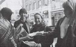 A Reebok promotion outside the Cambridge store in 1988