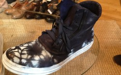 A flower-print mens sneaker from Officine Creative spring 14