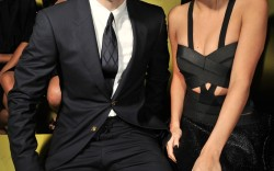 Nolan Funk Selena Gomez versace rtw spring 2014