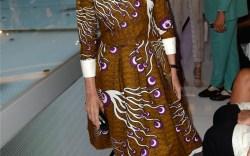 Franca Sozzani wearing Manolo Blahnik at Vogue Fashion Dubai Experience Getty Images