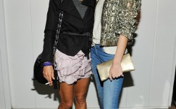 Isabel Marant and Rosie Huntington-Whiteley wearing Isabel Marant at the Isabel Marant & Milla Jovovich BBQ Party in Los Angeles Getty Images