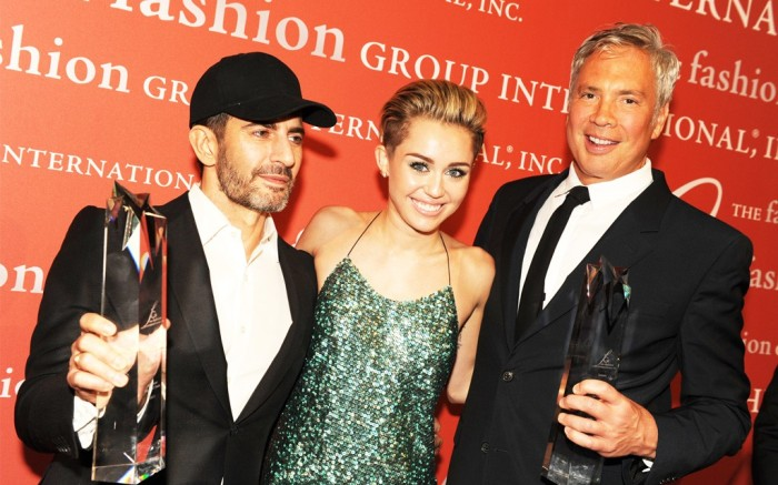 Miley Cyrus with Marc Jacobs and Robert Duffy Steve Eichner