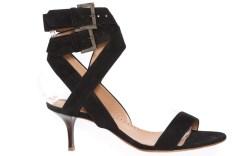 ALEXA WAGNERs turtle print double band sandal in calf suede leather Thomas Iannaccone