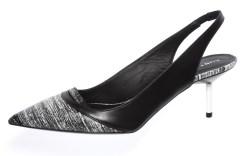 KURT GEIGERs Lucite heel in a slingback style Thomas Iannaccone