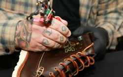 Eastland Shoe tattoos at Bloomingdales  Courtesy of Eastland