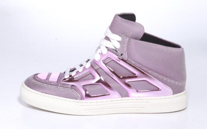 Alejandro Ingelmo Tron pink metallic high-top