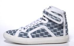 Pierre Hardy denim geometric-shaped sneakers
