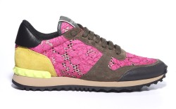 Valentino studded lace sneaker