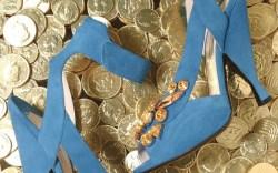 PRADA&#8217s blue suede shoes
