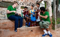 More than 200 pairs of sneakers were donated during Mussards 2009 Shoe Project in Brazil
