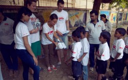 A trip to the Dharvai slums of Mumbai India in 2012 during which nearly 4500 sneakers were given out to local children courtesy of Twins for Peace