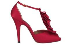 Jessica Shultz Hottest off-the-ice Footwear Liz Claiborne peep-toe high heels