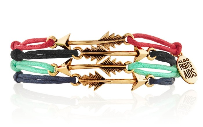 All proceeds of these Aldo x Waris friendship bracelets go to Partners In Health for people living with HIV
