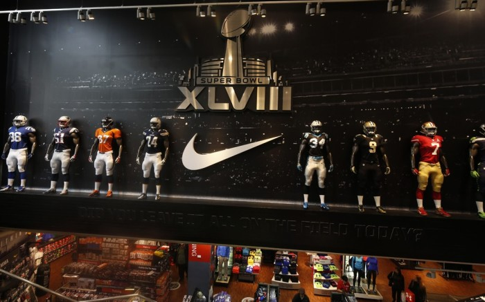 Modells Super Bowl Times Square store 2014