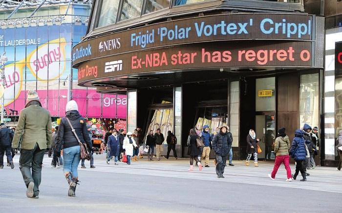 New York Polar vortex January