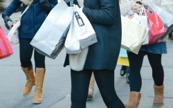 Holiday shoppers Manhattan