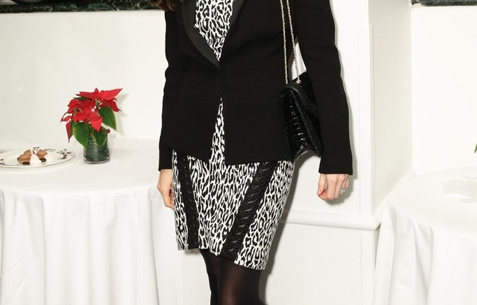 Designer Georgina Chapman attended the Cosmo 100 luncheon in Christian Louboutins crisscross stilettos Steve Eichner