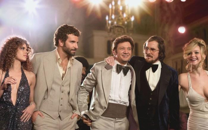 American Hustle Amy Adams Bradley Cooper Jeremy Renner Christian Bale Jennifer Lawrence