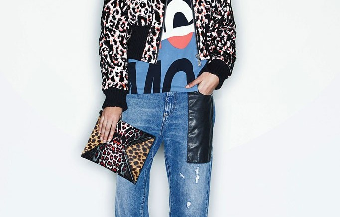 MCQ by Alexander McQueen leopard jacket and clutch Pre-Fall 2014