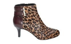 Leopard Rockport Mid-Heel Bootie