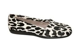 Leopard Aerosoles Calf Hair Flat Black and White
