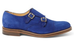 Designer Katie Eary was one of six designers handpicked to create these blue suede shoes for Grenson exclusively sold on mrportercom