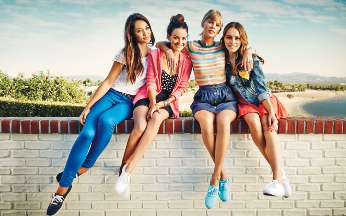 The coordinating ad campaign for Million Brave Acts features Keds spokeswoman Taylor Swift
