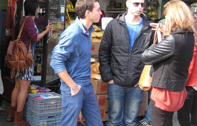 What they are wearing at Mahane Yehuda market in Jerusalem