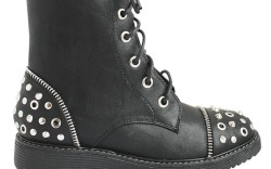 Lace-up ankle style with studded toe and heel by NINA
